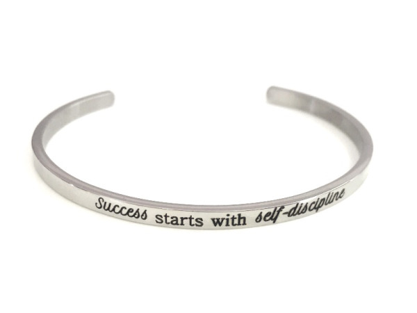 """Success starts with self discipline"" Bracelet"