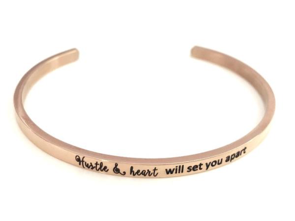 """hustle & heart"" Bracelet"