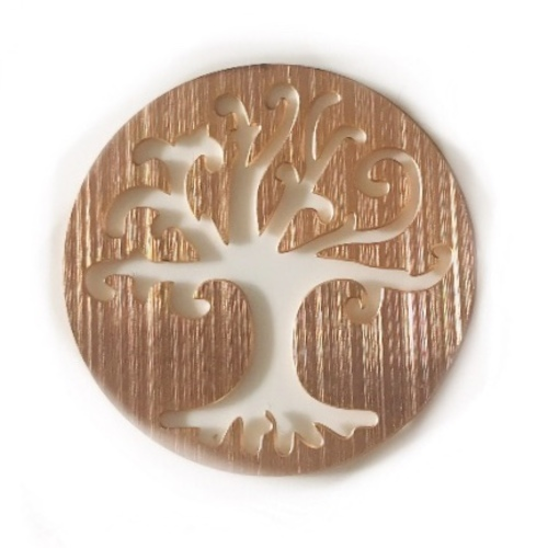 Tree Of Life Journey Plate - Large (Rose Gold)