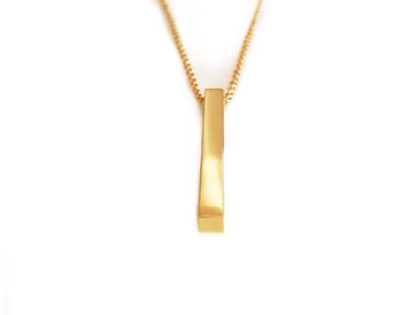 Tora Grace Reminder- Vertical Chunky Bar yellow Gold