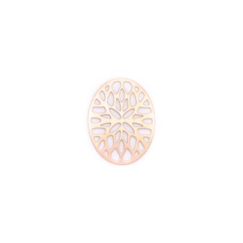 Antique Leaf Journey Plate - Rose Gold/Silver