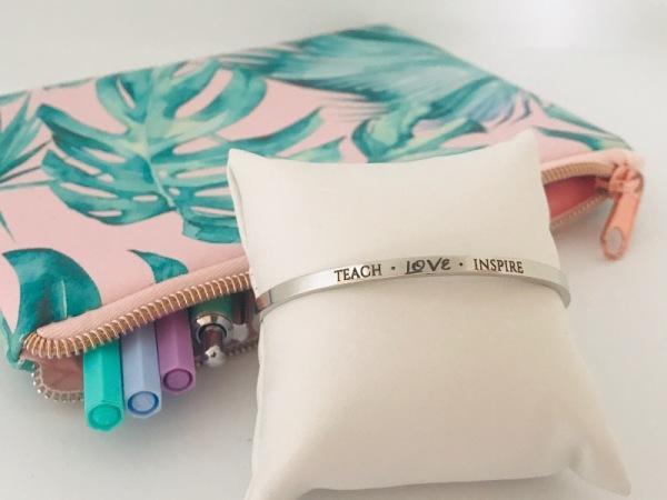 Teach.Love.Inspire - Silver Samsara Bracelet