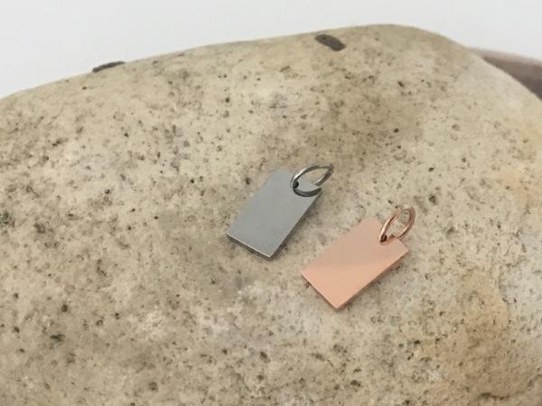 Rectangular Petite Silver (7x12mm)
