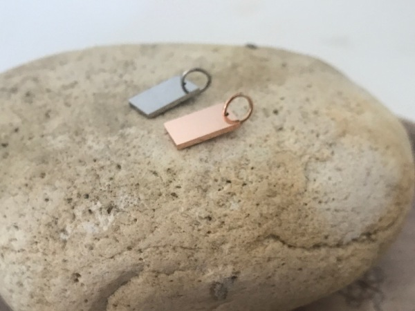 Rectangular Petite Rose Gold  (7x12mm)