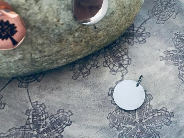 Round Petite Silver (15mm)
