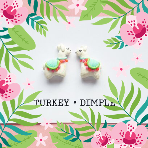Turkey Dimple Llama Earrings