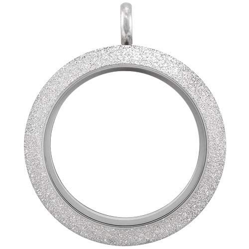 Silver Shimmer Locket (Medium) - Twist Top