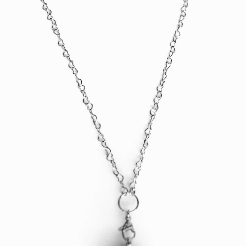 Long Open Heart Chain (Silver)