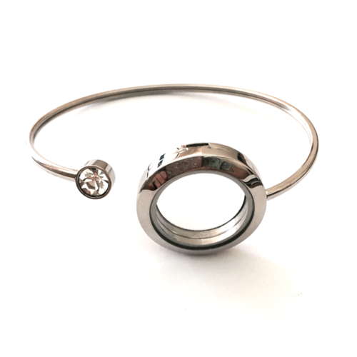 Silver Flexi Cuff Bangle (Medium) - Twist Top
