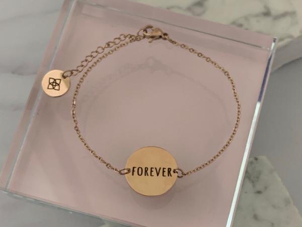 """""""Forever"""" Dainty Petite Bracelet Rose Gold"""