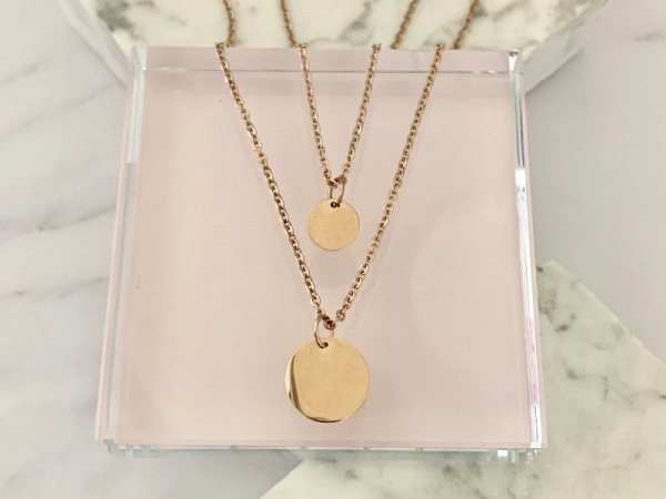 Rose Gold Reminders Petite Stack Necklace