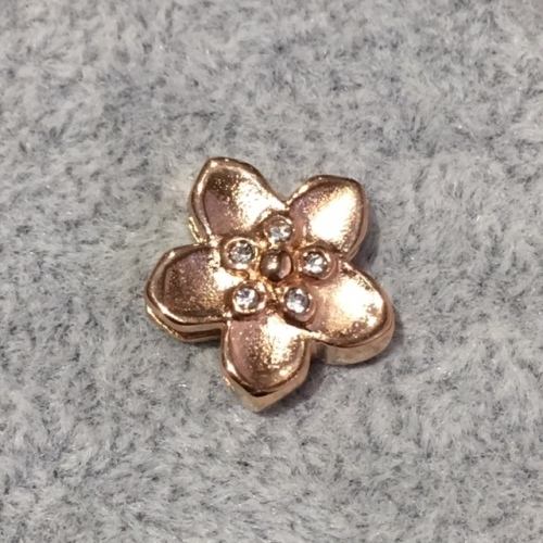 EmBrace Slide-On Charm: Rosegold Flower