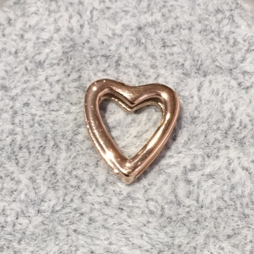 EmBrace Slide-On Charm: Rose Gold Single Heart