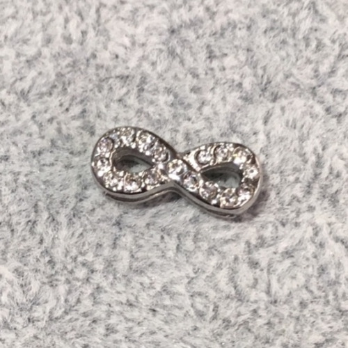 EmBrace Slide-On Charm: Silver Infinity