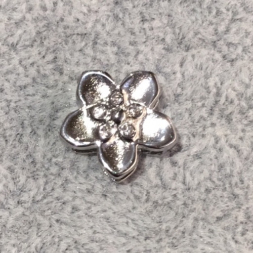 EmBrace Slide-On Charm: Silver Flower