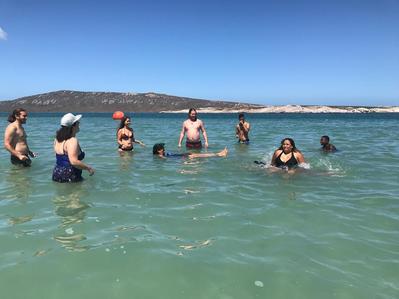 Swimming in Langabaan