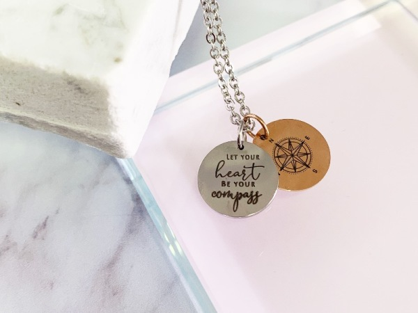"""Let your heart be your compass"" Petite Necklace set"