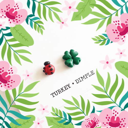 The Good Luck Stud Pair by Turkey•Dimple