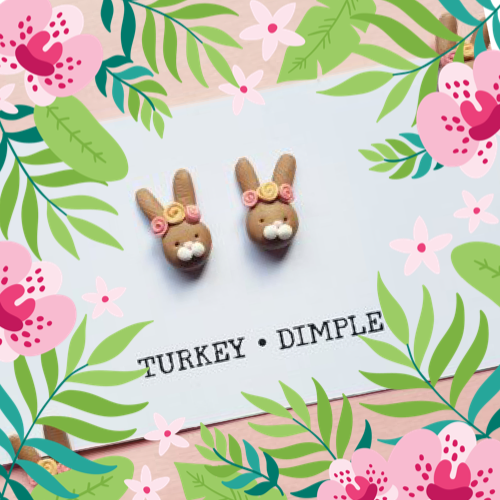 Bunny Earrings by Turkey•Dimple
