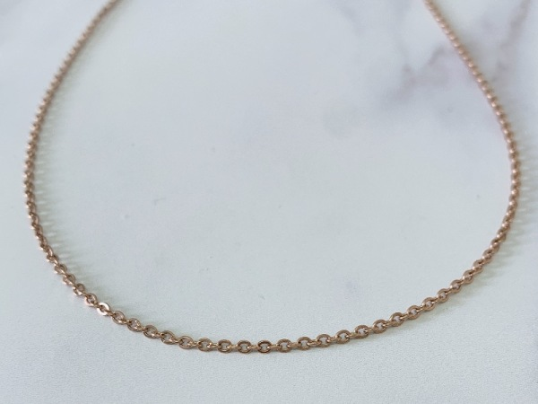 Short 45cm Petite Chain Rose Gold