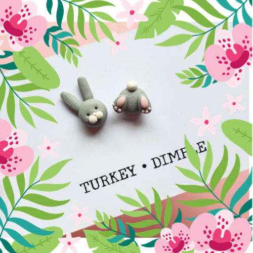 Bunny Bum Earrings by Turkey•Dimple