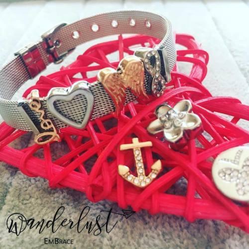 Wanderlust EmBrace (Mesh Bracelets & Slide-On Charms)
