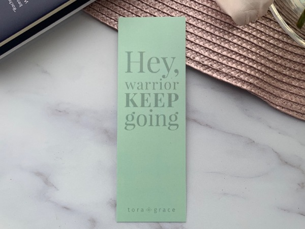 Inspo Bookmark - Hey warrior