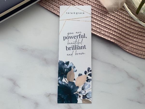 Inspo Bookmark - Powerful, beautiful, brilliant, brave