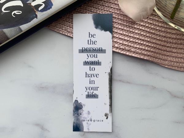 Inspo Bookmark - Be the person