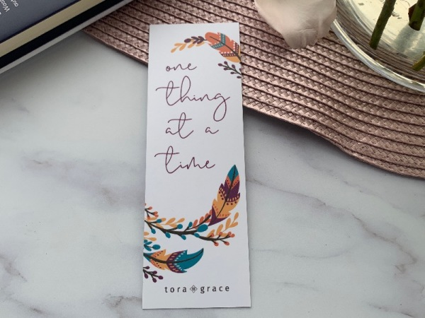 Inspo Bookmark - One thing at a time