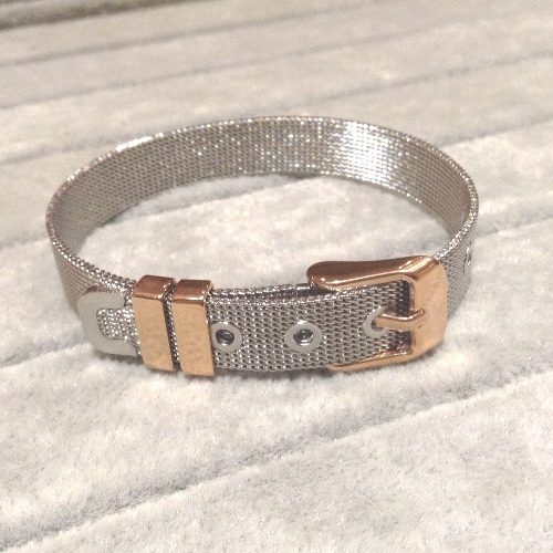 #EmBracelet: Silver with Rose Gold Trim