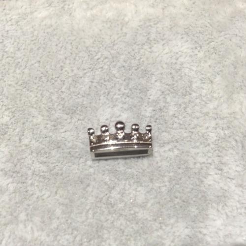 EmBrace Slide-On Charm: Silver Regal Crown