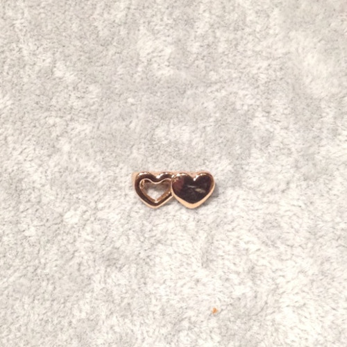 EmBrace Slide-On Charm: Rose Gold Double Heart
