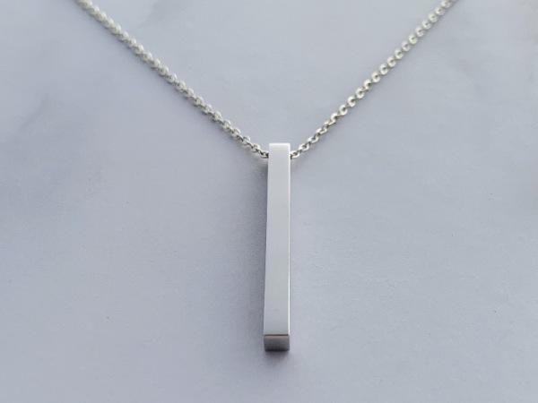 Reminder Vertical Bar Necklace Silver