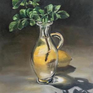 Lemon and green twig