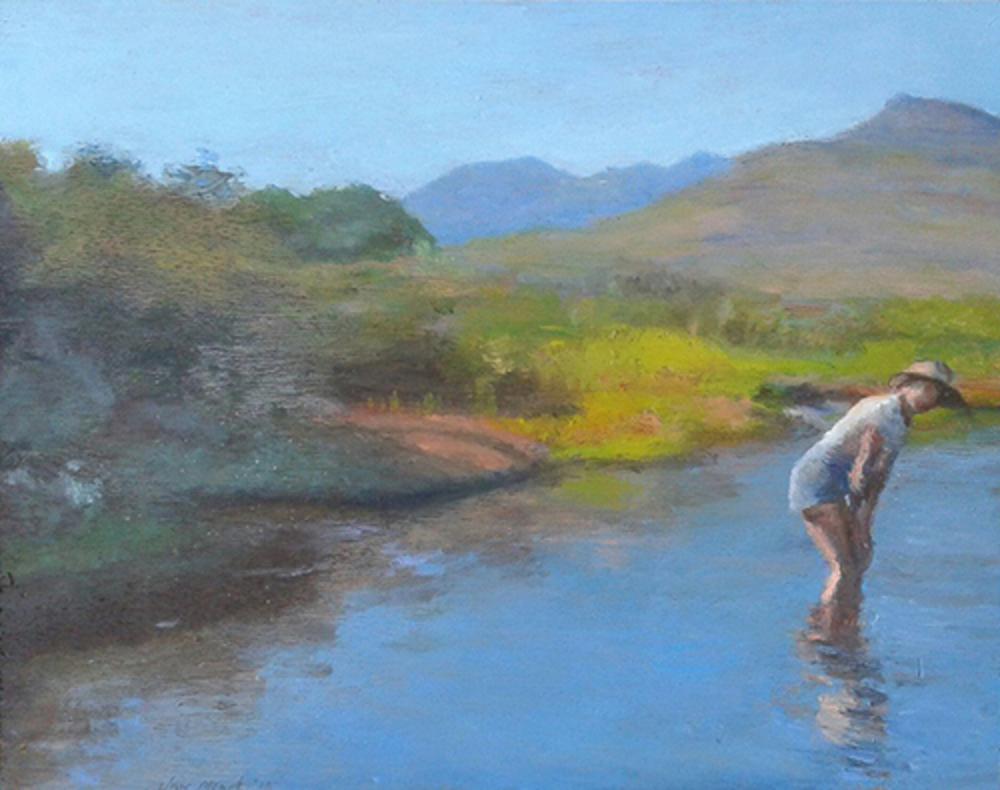 Julia in a Cederberg Mountain Stream'