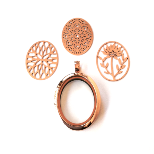 The Oval Locket & Plate Collection (Rose Gold)