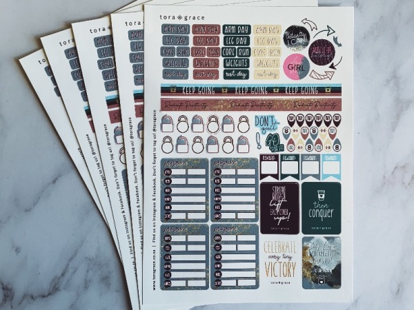 Bullet Journal Sticker Sheet - Fitspo