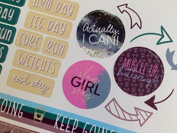 Bullet Journal Sticker Sheet - Fitspo