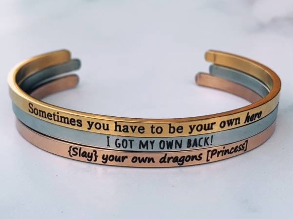 Slay your own dragons  ~ Bracelet Stack