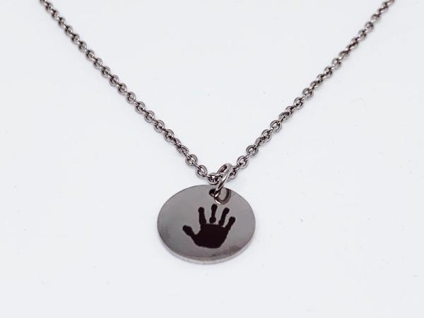 Print Petite & Chain - Silver