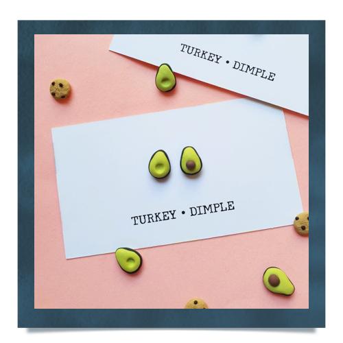 Avocado Stud Set by Turkey•Dimple