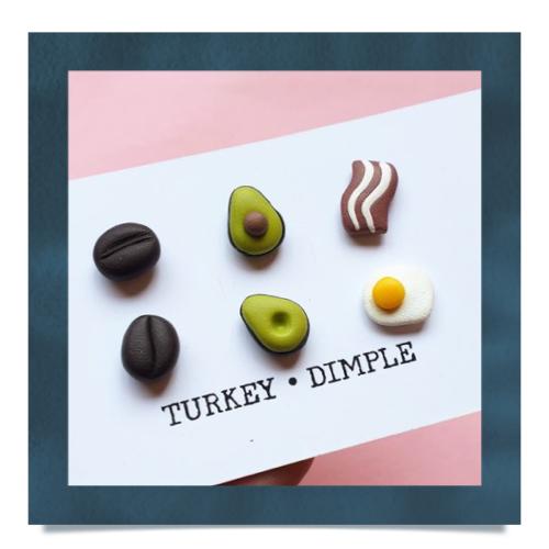 Breakfast Trio Stud Set by Turkey•Dimple