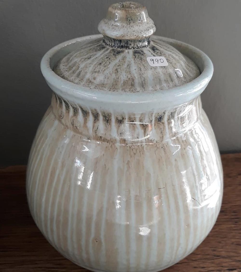 Cut glaze storage bowl 2