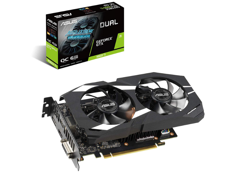 ASUS Dual GeForce® GTX 1660 Ti OC Edition 6GB GDDR6 Graphics Card