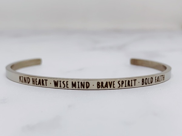Kind Heart. Wise Mind. Brave Spirit. Bold Faith- Samsara Bracelet