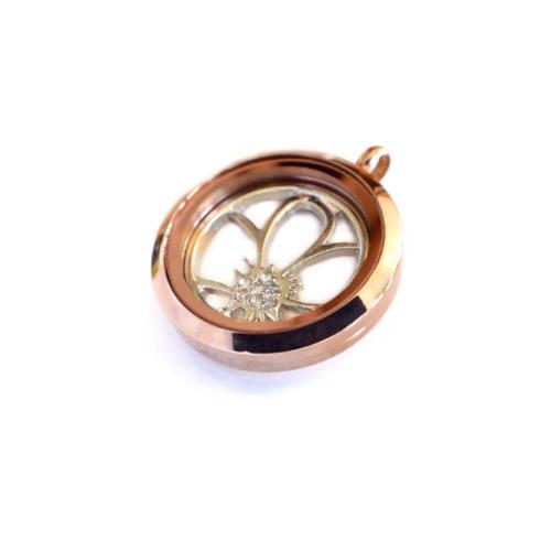 Rose Gold Flower Locket Set