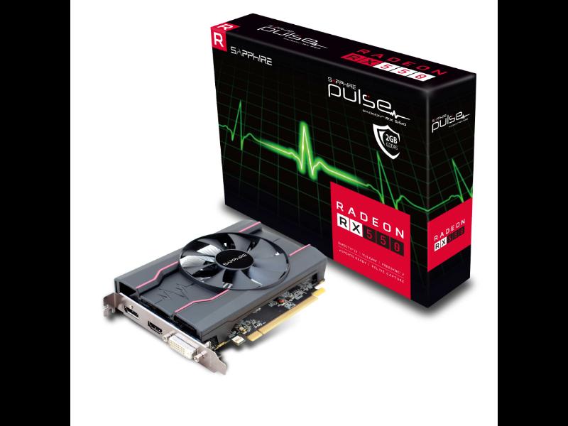 Sapphire Radeon RX 550 Pulse 2GB GDDR5 Graphics Card