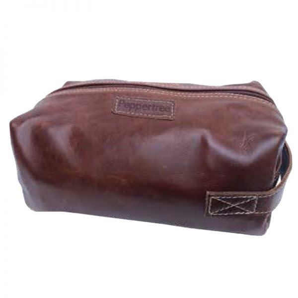 Leather men's toiletry-saddle