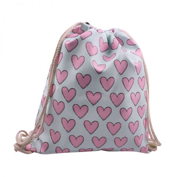 Drawstring bag - Hearts